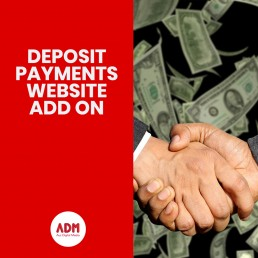 Deposit payments website add on