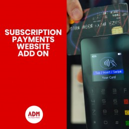 Subscription payments website add on