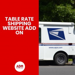 Table rate shipping website add on